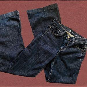 7 FAM Ginger Flare Jeans Dark Wash 24